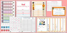 Red Sight Words Resource Pack