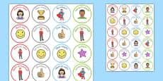 Reward Stickers Gaeilge