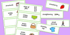 Three Syllable STR Word Cards