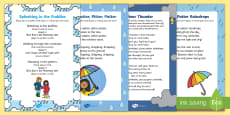 Rainy Day Songs and Rhymes Resource Pack