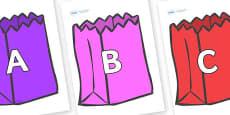 A-Z Alphabet on Bags