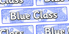 Blue Themed Classroom Display Banner