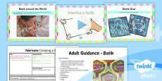 PlanIt - Art KS1 - Fabricate Lesson 5: Creating a Batik Lesson Pack