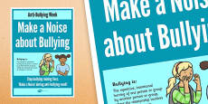 Anti-Bullying Week: Make a Noise About Bullying Poster