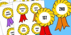 Sports Day Award Rosettes