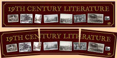 19th Century Literature Display Banner