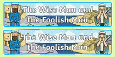 The Wise Man And The Foolish Man Display Banner