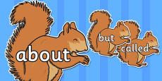 100 High Frequency Words on Red Squirrels