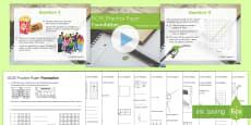 Maths GCSE Practice Paper Pack Foundation