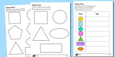 Shape Hunt Activity Sheet
