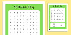 St David's Day Wordsearch