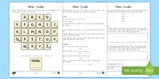 * NEW * My Name Maths Scrabble Activity