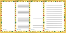 Fall Leaves Page Borders