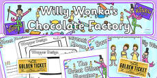 Role Play Pack to Support Teaching on Willy Wonka's Chocolate Factory