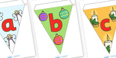 A-Z Lowercase Alphabet Christmas Bunting