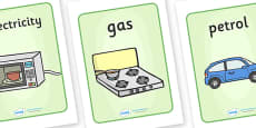 Renewable And Nonrenewable Display Posters