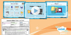 PlanIt - Computing Year 1 - Computer Skills Lesson 4: Folders and Save Lesson Pack