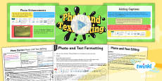 PlanIt - Computing Year 4 - Photo Stories Lesson 2: Photo And Text Editing Lesson Pack