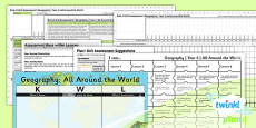 PlanIt - Geography Year 4 - All Around the World Unit Assessment Pack