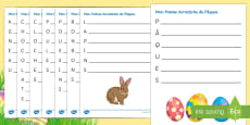 * NEW * Easter Acrostic Poem French