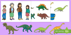 Story Cut-Outs to Support Teaching on Harry and the Bucketful of Dinosaurs