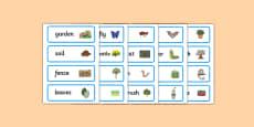 Backyard Habitat Word Cards