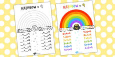 Rainbow to 9 Display Poster