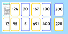 Place Value Snap Matching Cards