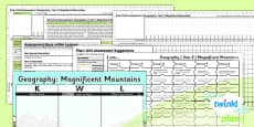 PlanIt - Geography Year 5 - Magnificent Mountains Unit Assessment Pack