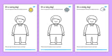 Dress the Toy Person for the Weather Drawing Activity