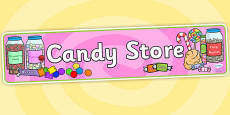 Candy Store Role Play Banner