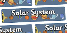 Solar System Display Banner