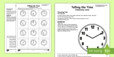 Telling the Time Activity Sheet English/Polish