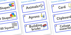 Bluebird Themed Editable Classroom Resource Labels