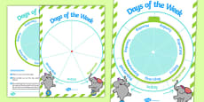 Days of the Week Sequencing Spin Wheel