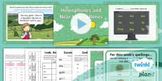 PlanIt English Y2 Term 3B W2: Homophones and near Homophones Spelling Pack