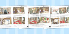 The Tailor of Gloucester Storyboard Template (Beatrix Potter)