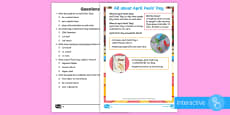 * NEW * KS1 April Fools' Day Differentiated Comprehension Go Respond Activity Sheets
