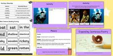 Expanding Sentence Poetry Lesson Teaching Pack Flipchart