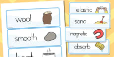 Australia - Materials Vocab Cards