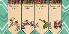 The Hero Twins Mayan Civilization Story Editable Bookmarks