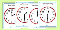 O'clock and Half Past on Clocks Polish