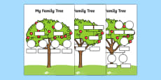 My Family Tree Worksheets