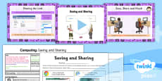 PlanIt - Computing Year 3 - Internet Research and Communication Lesson 3: Saving and Sharing Lesson Pack