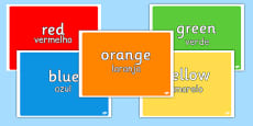 Colours Display Pack Portuguese Translation