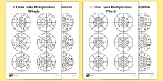 2 Times Table Wheels Activity Sheet Pack
