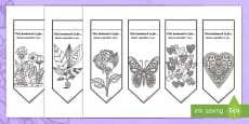 * NEW * Happy Mother's Day Mindfulness Colouring Bookmarks English/Italian