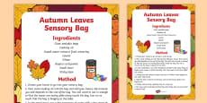 Autumn Leaves Sensory Bag