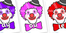 Phase 5 Phonemes on Clown Faces