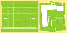 Rugby Pitch Bee Bot Game Mat